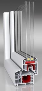 Aluplast Ideal 4000 classic-line Profil - 3 fach verglast