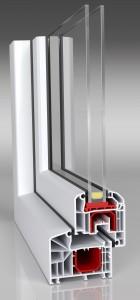 Aluplast Ideal 4000 classic-line Profil - 2 fach verglast