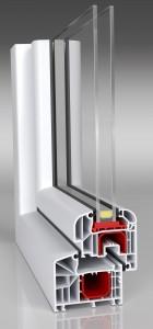 Aluplast Ideal 4000 round-line Profil - 2 fach verglast