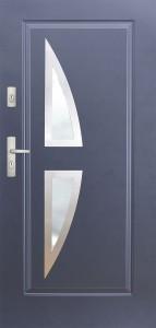 Tür mit Inox und Duo-Color Beispiel 03