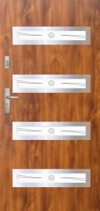 Tür mit Inox und Duo-Color Beispiel 09