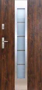 Tür mit Inox und Duo-Color Beispiel 13