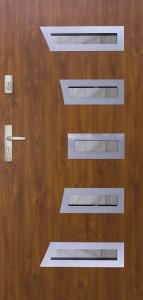Tür mit Inox und Duo-Color Beispiel 15