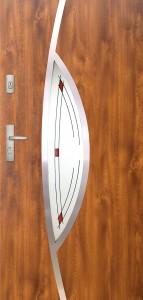 Tür mit Inox und Duo-Color Beispiel 17