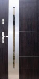 Tür mit Inox und Duo-Color Beispiel 21