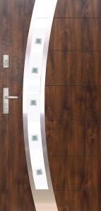 Tür mit Inox und Duo-Color Beispiel 22