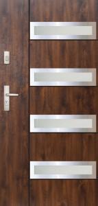 Tür mit Inox und Duo-Color Beispiel 26