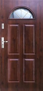 Tür mit Prägung verglast Beispiel 01