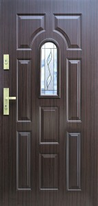 Tür mit Prägung verglast Beispiel 02