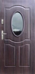 Tür mit Prägung verglast Beispiel 03
