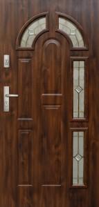 Tür mit Prägung verglast Beispiel 05