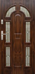 Tür mit Prägung verglast Beispiel 06