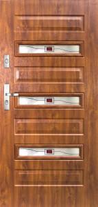 Tür mit Prägung verglast Beispiel 07