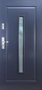 Tür mit Prägung verglast Beispiel 08