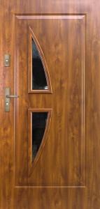 Tür mit Prägung verglast Beispiel 09