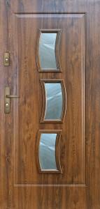 Tür mit Prägung verglast Beispiel 10
