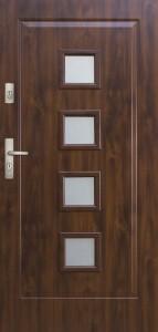 Tür mit Prägung verglast Beispiel 11
