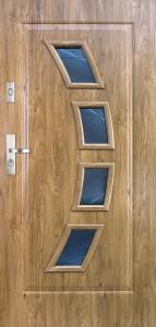 Tür mit Prägung verglast Beispiel 12
